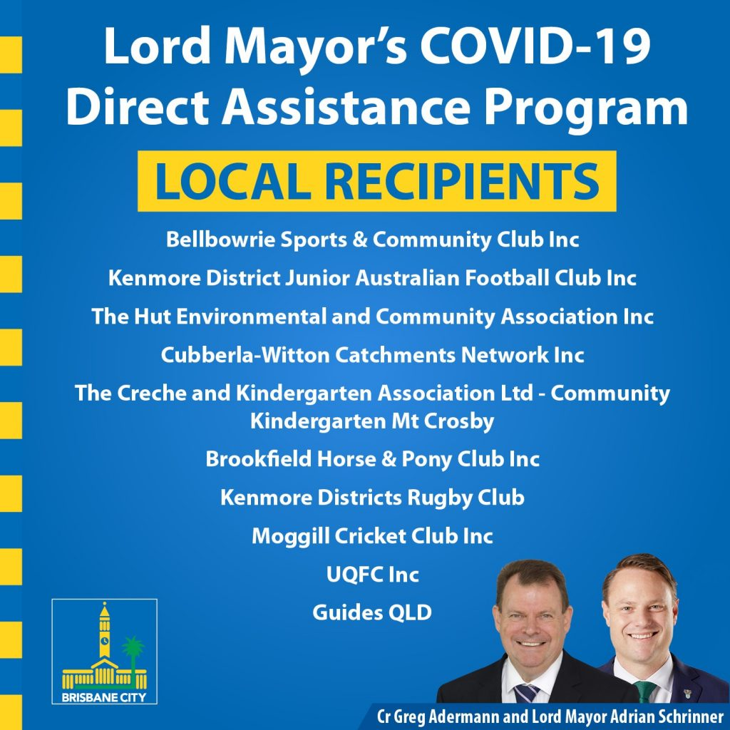 COVID grants Pullenvale Ward