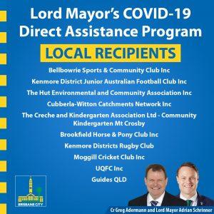COVID grants Pullenvale Ward